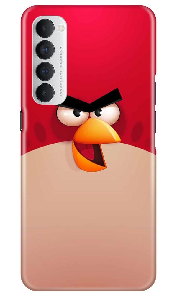 Angry Bird Red Mobile Back Case for Oppo Reno4 Pro  (Design - 325)