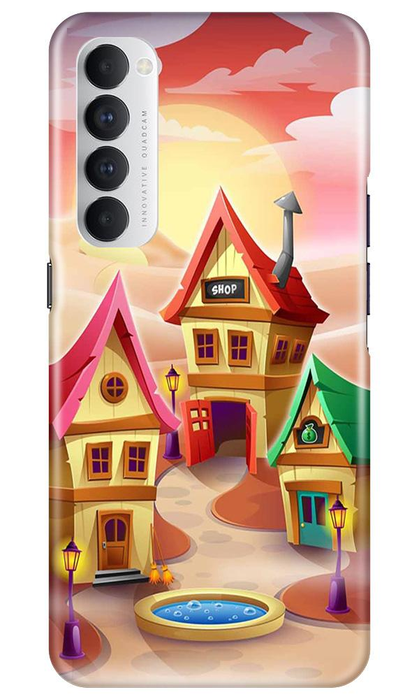 Sweet Home Mobile Back Case for Oppo Reno4 Pro  (Design - 338)