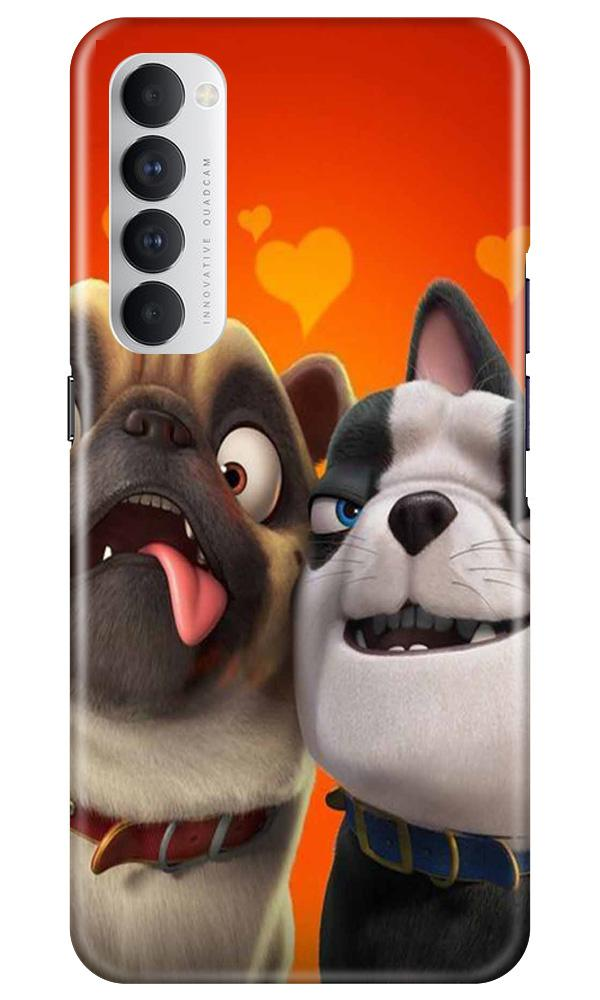 Dog Puppy Mobile Back Case for Oppo Reno4 Pro  (Design - 350)