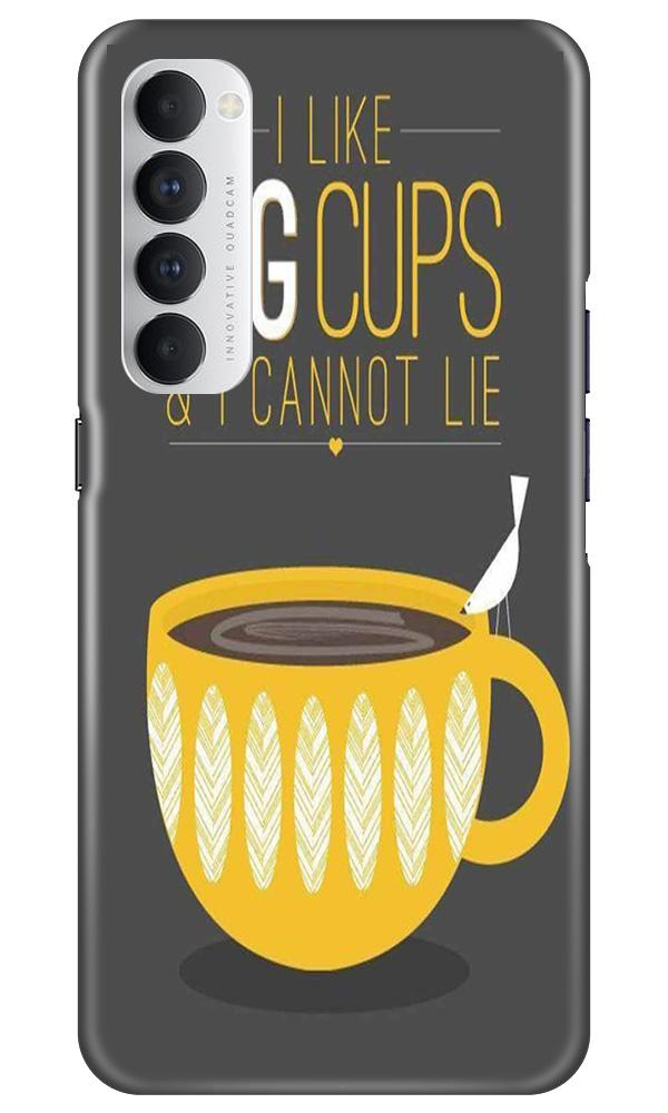 Big Cups Coffee Mobile Back Case for Oppo Reno4 Pro  (Design - 352)