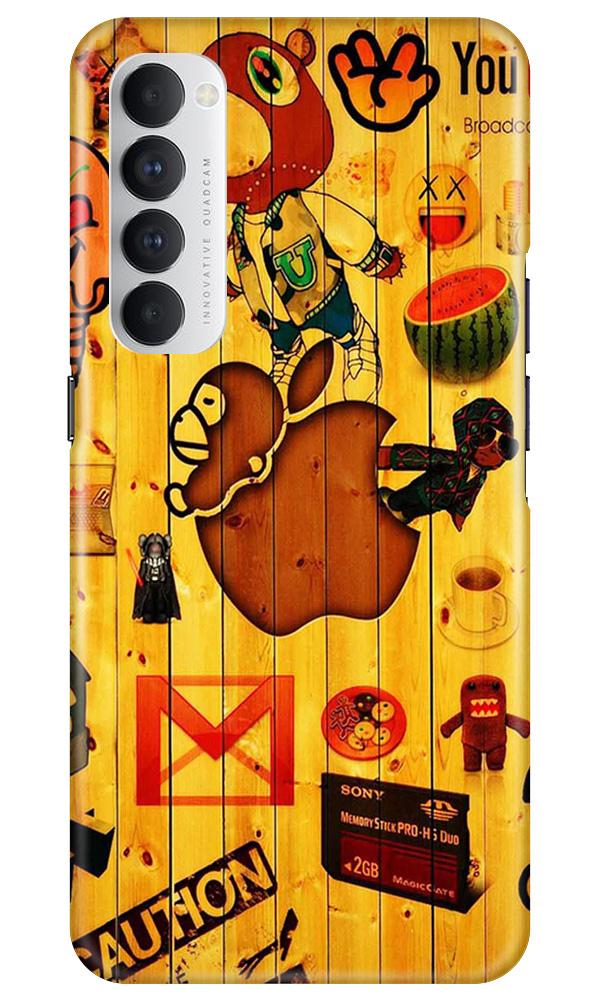 Wooden Texture Mobile Back Case for Oppo Reno4 Pro  (Design - 367)