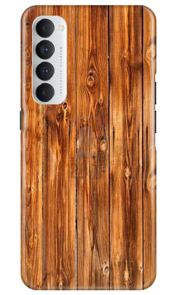 Wooden Texture Mobile Back Case for Oppo Reno4 Pro  (Design - 376)