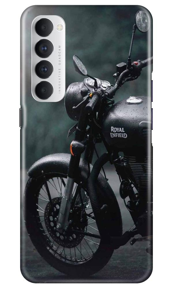Royal Enfield Mobile Back Case for Oppo Reno4 Pro  (Design - 380)