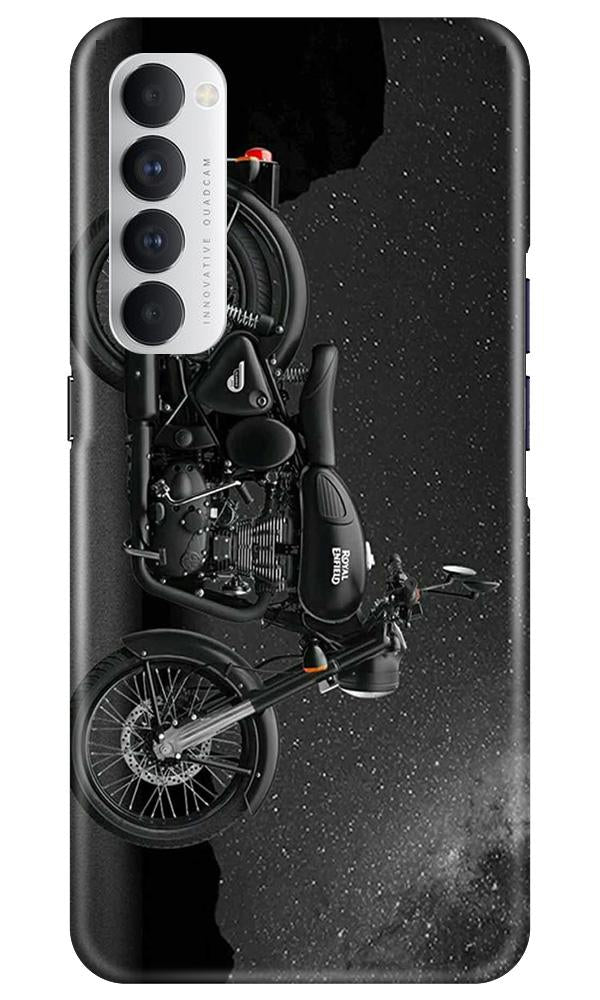 Royal Enfield Mobile Back Case for Oppo Reno4 Pro  (Design - 381)
