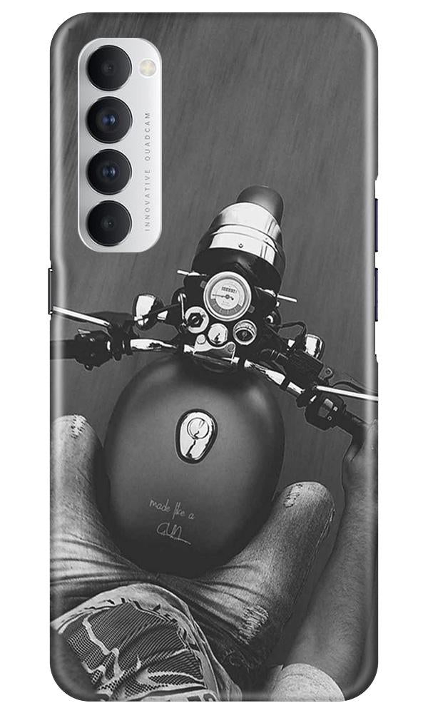 Royal Enfield Mobile Back Case for Oppo Reno4 Pro  (Design - 382)
