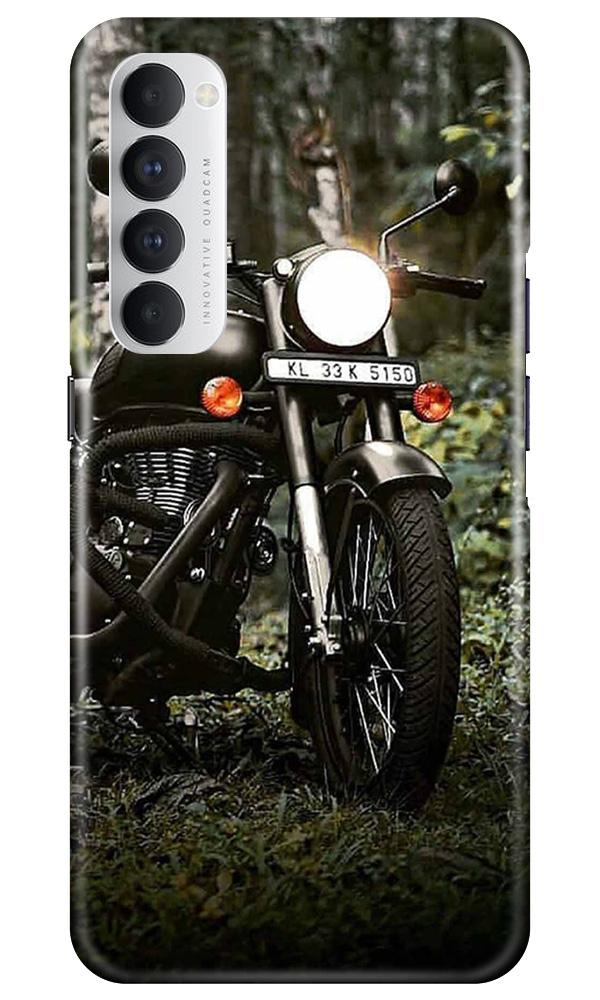 Royal Enfield Mobile Back Case for Oppo Reno4 Pro  (Design - 384)