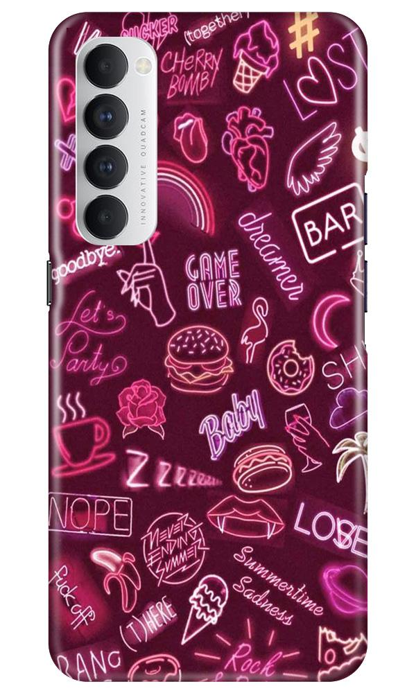 Party Theme Mobile Back Case for Oppo Reno4 Pro  (Design - 392)