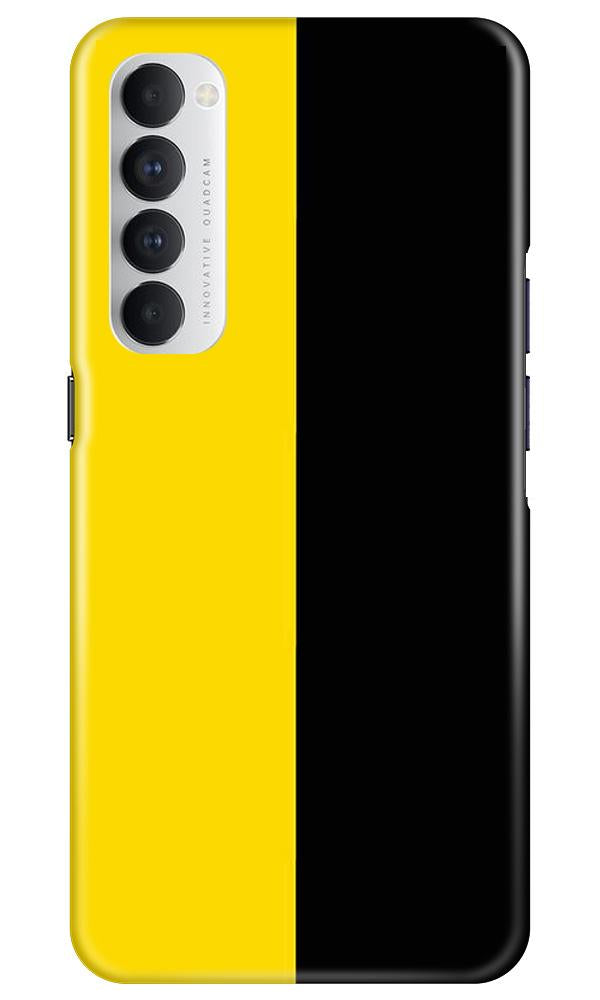 Black Yellow Pattern Mobile Back Case for Oppo Reno4 Pro  (Design - 397)