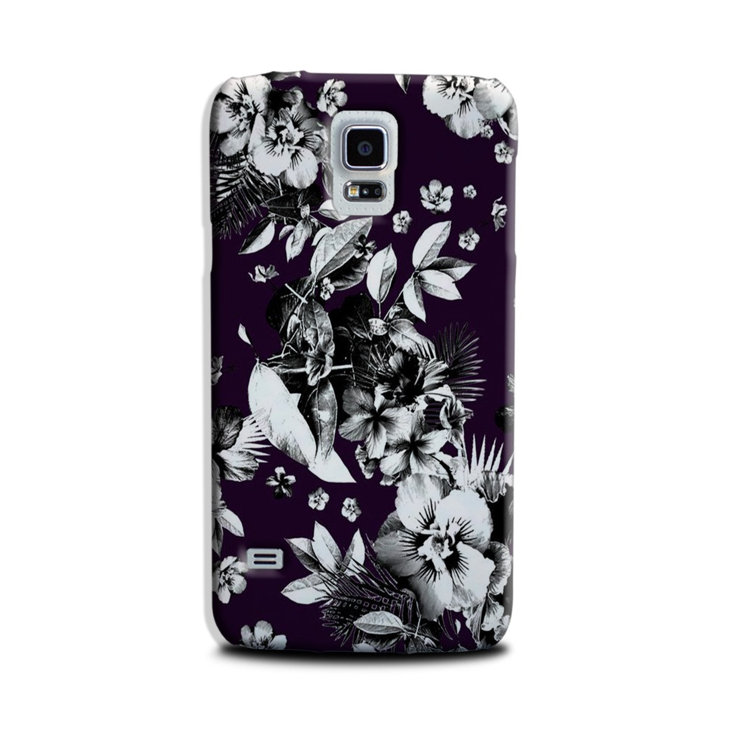 white flowers Case for Galaxy S5