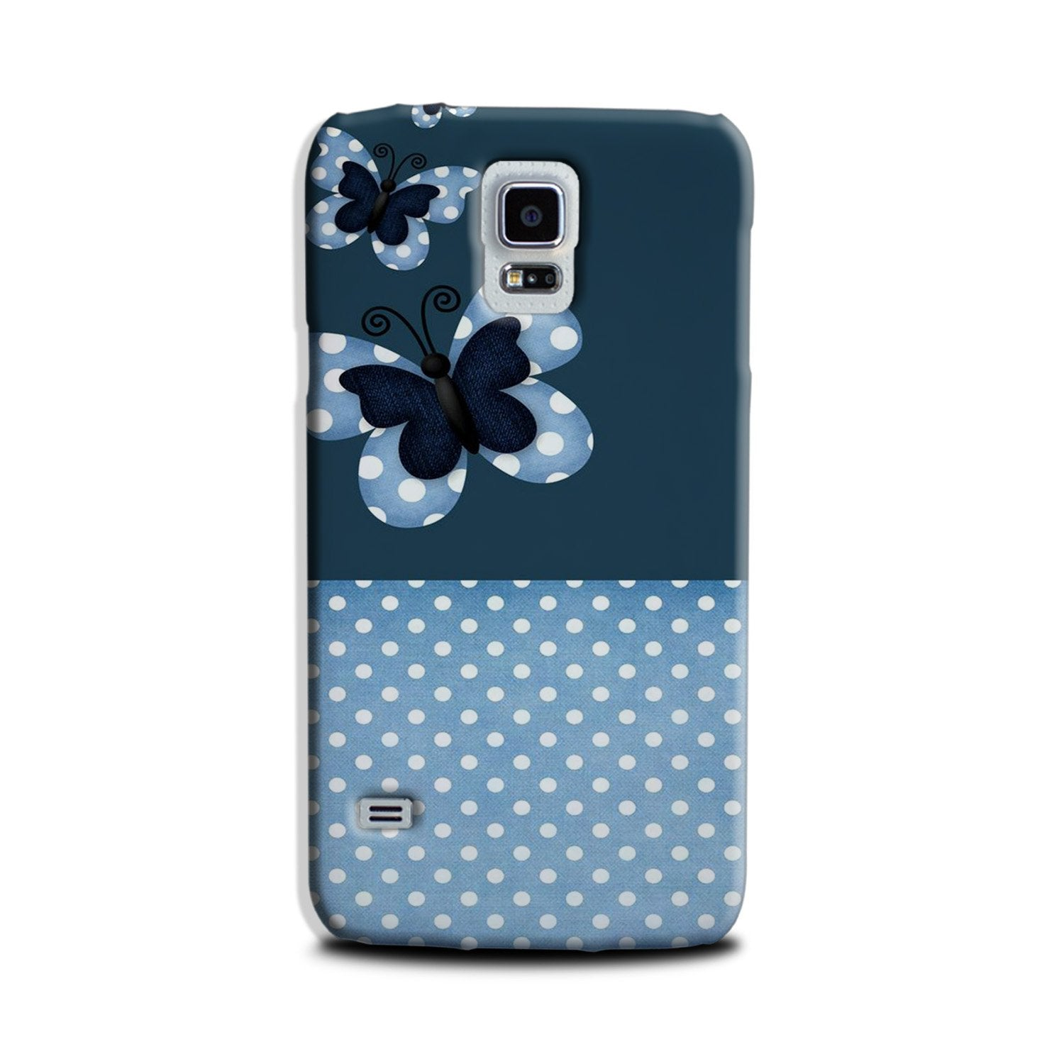 White dots Butterfly Case for Galaxy S5
