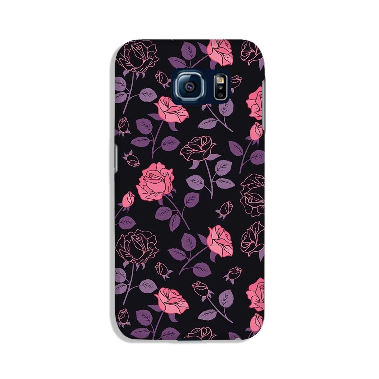 Rose Black Background Case for Galaxy S6