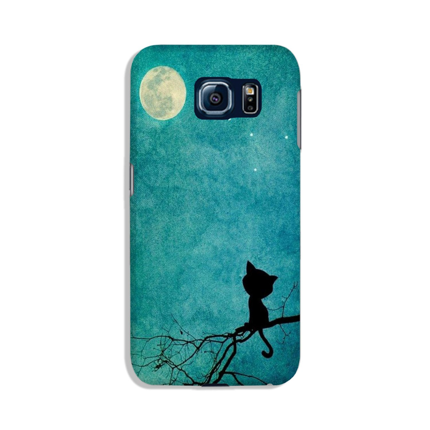 Moon cat Case for Galaxy S6