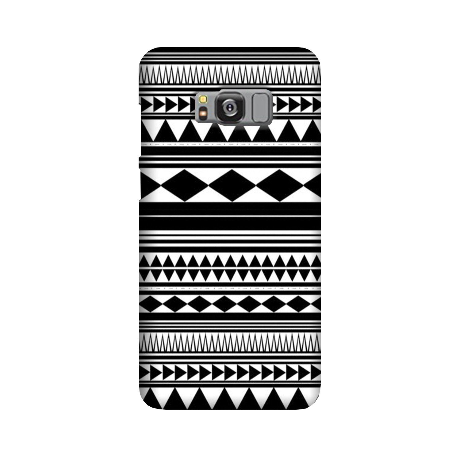 Black white Pattern Case for Galaxy S8 Plus