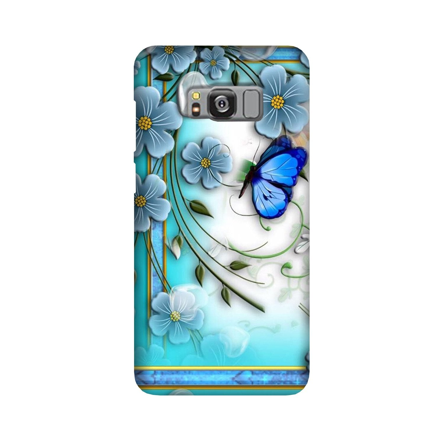 Blue Butterfly Case for Galaxy S8 Plus