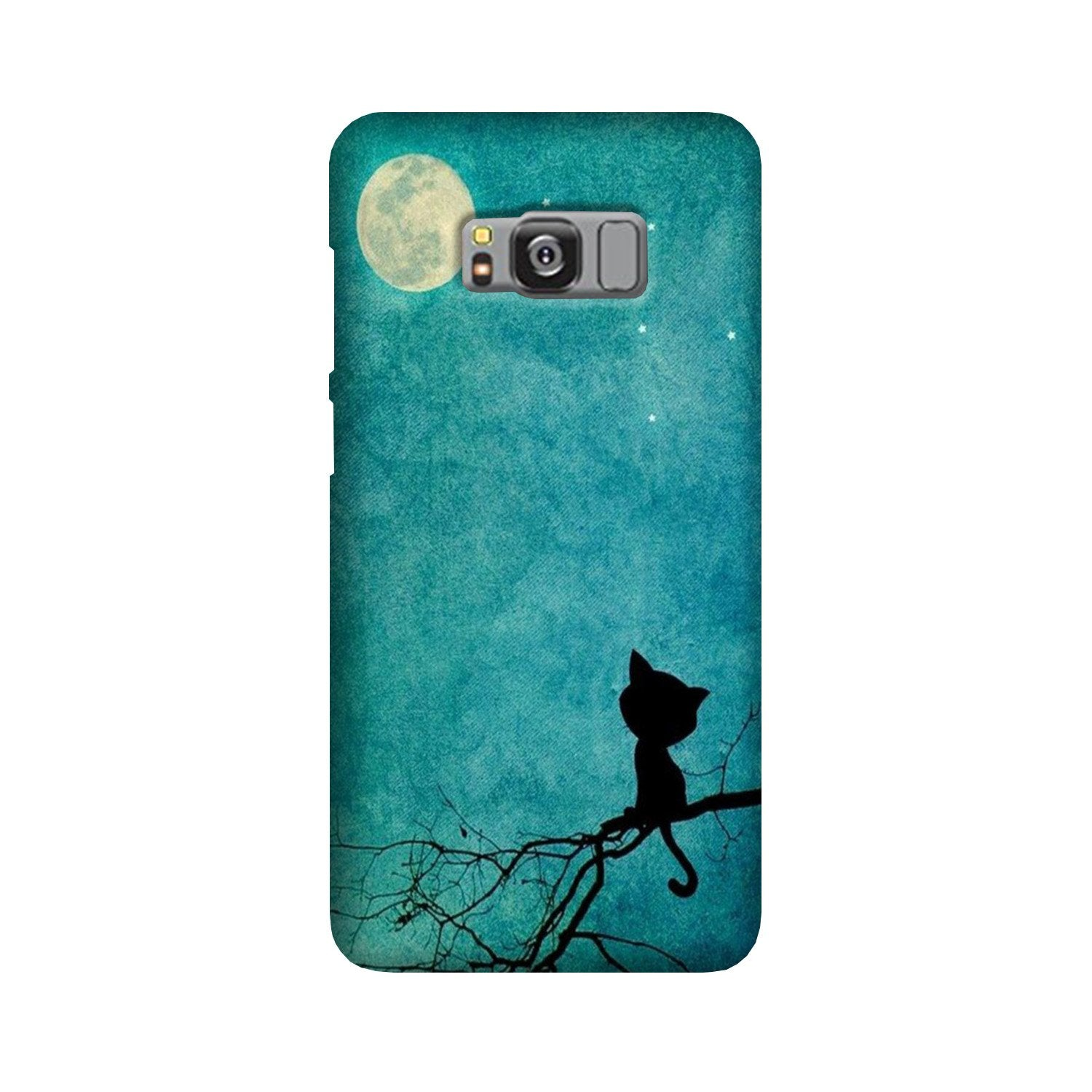 Moon cat Case for Galaxy S8 Plus