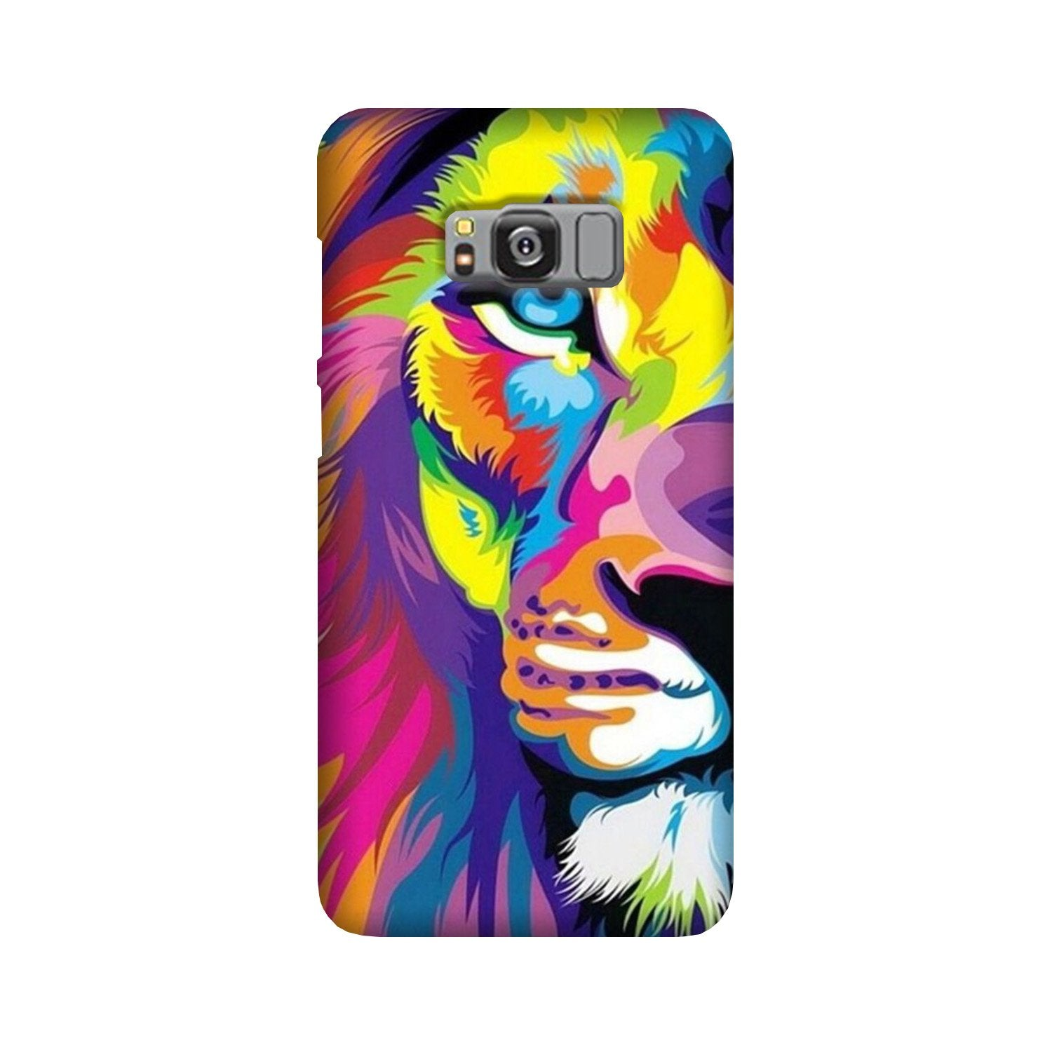 Colorful Lion Case for Galaxy S8  (Design - 110)