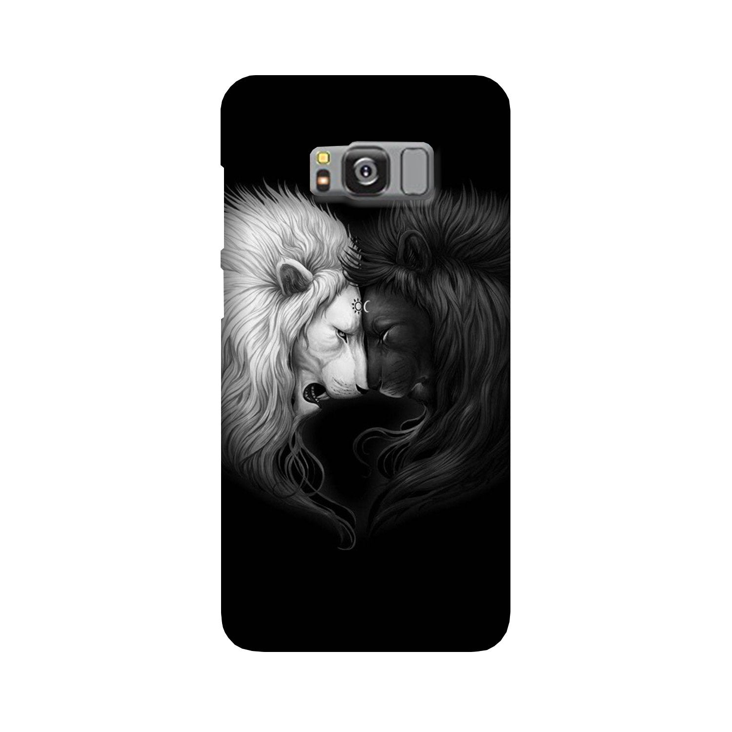 Dark White Lion Case for Galaxy S8  (Design - 140)