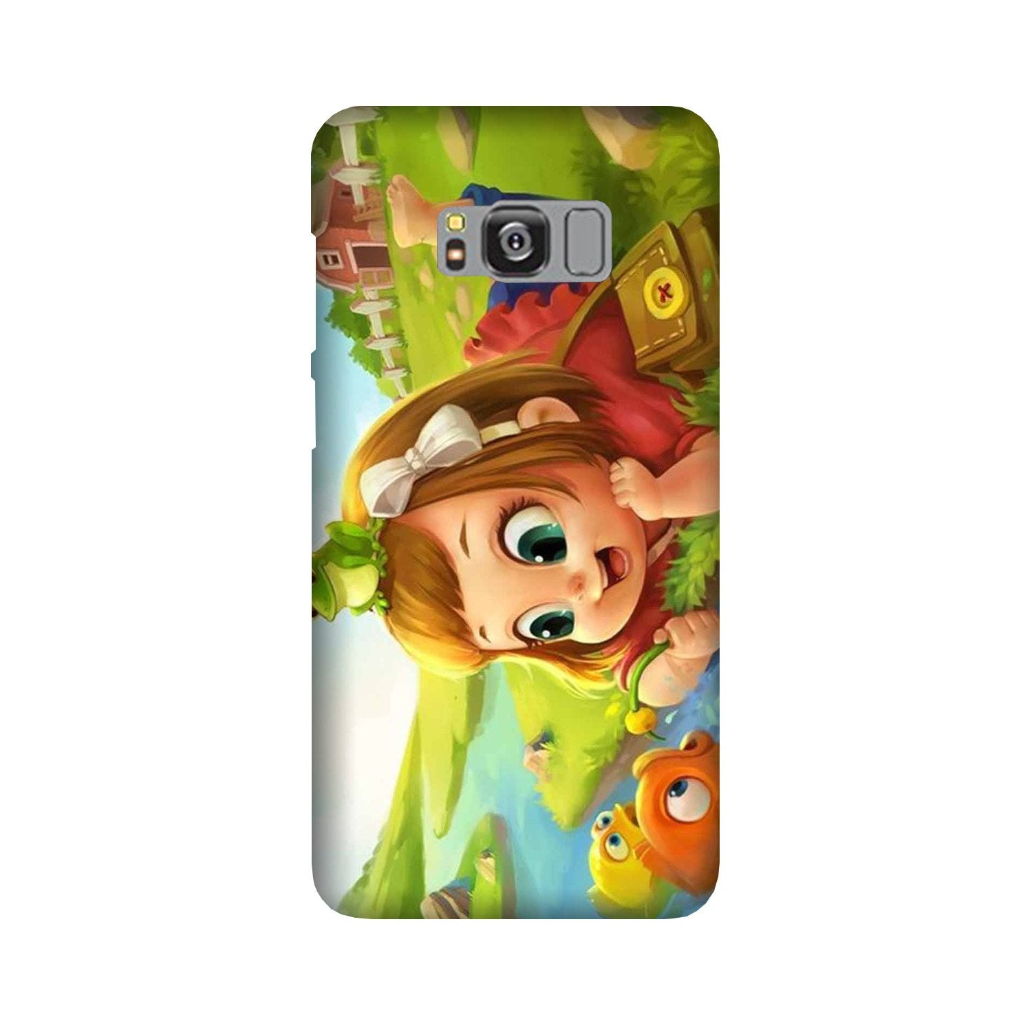 Baby Girl Mobile Back Case for Galaxy S8 Plus  (Design - 339)