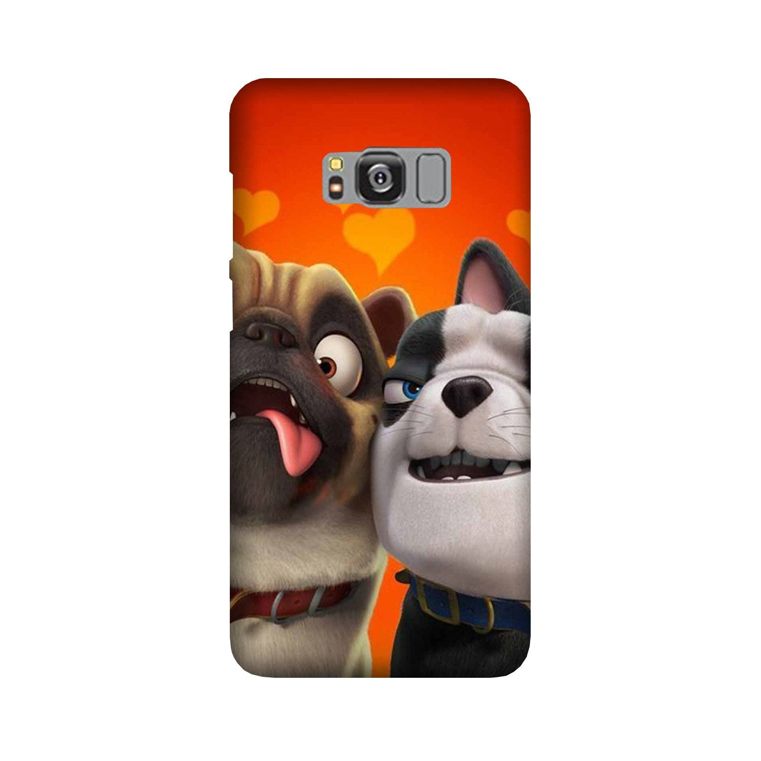 Dog Puppy Mobile Back Case for Galaxy S8  (Design - 350)