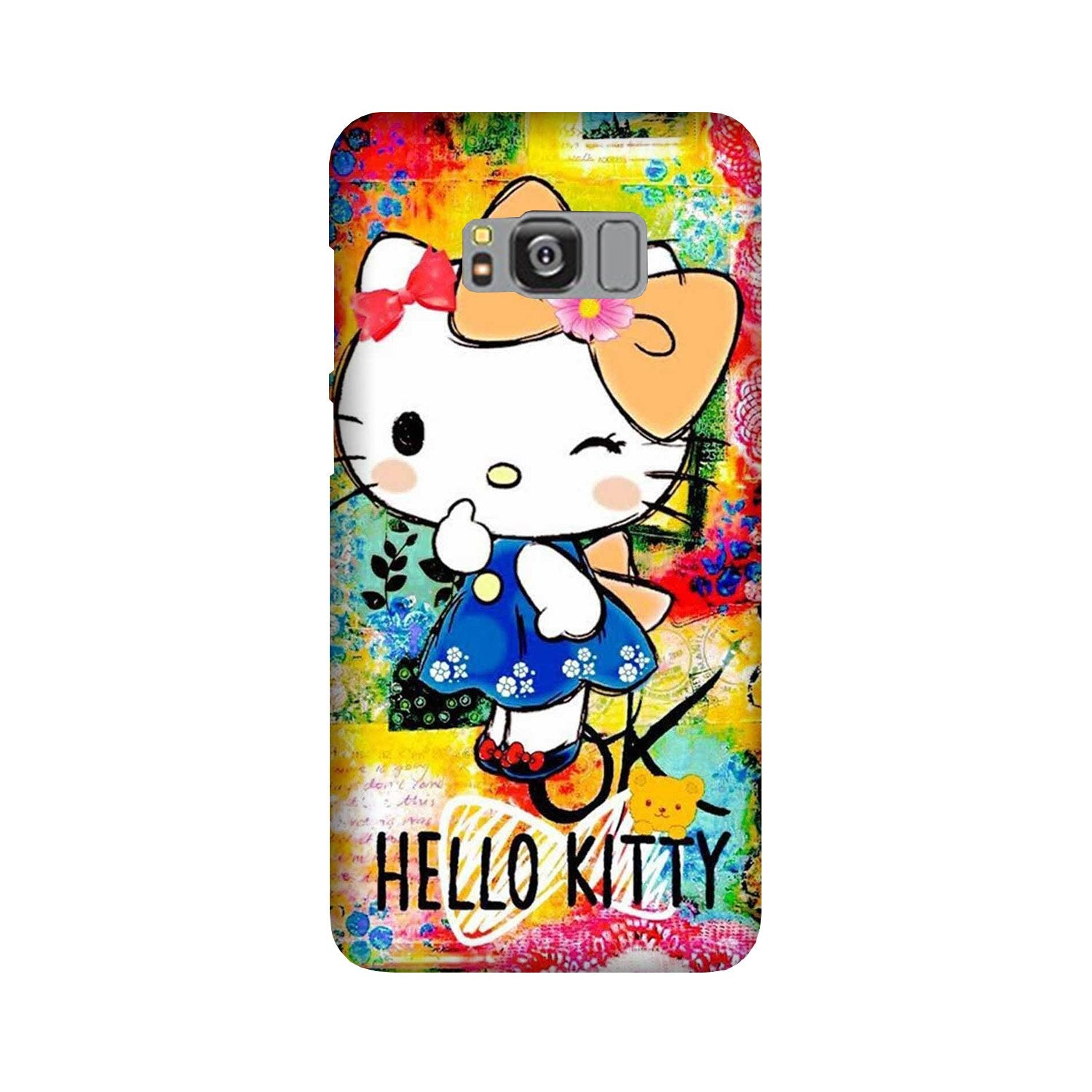 Hello Kitty Mobile Back Case for Galaxy S8  (Design - 362)