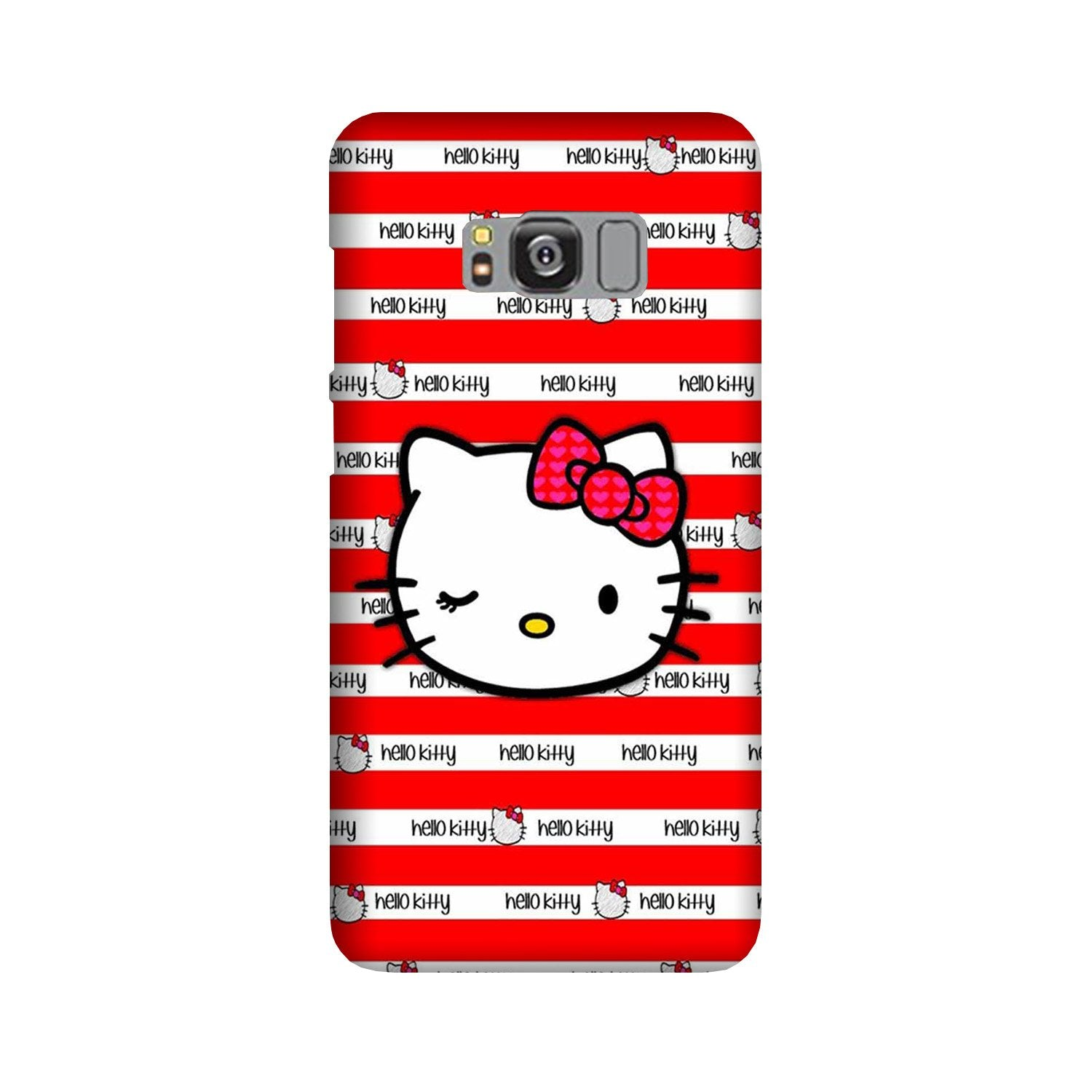 Hello Kitty Mobile Back Case for Galaxy S8  (Design - 364)