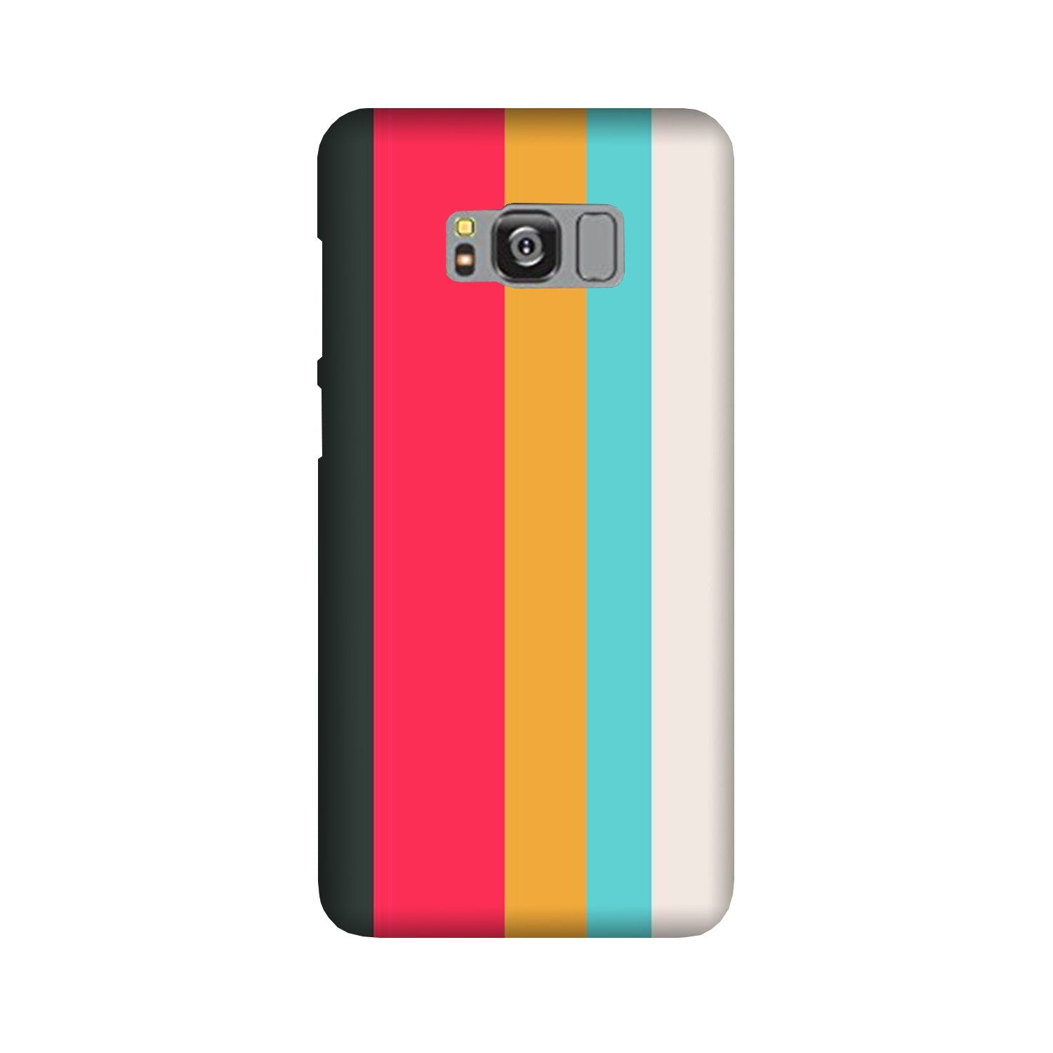 Color Pattern Mobile Back Case for Galaxy S8  (Design - 369)