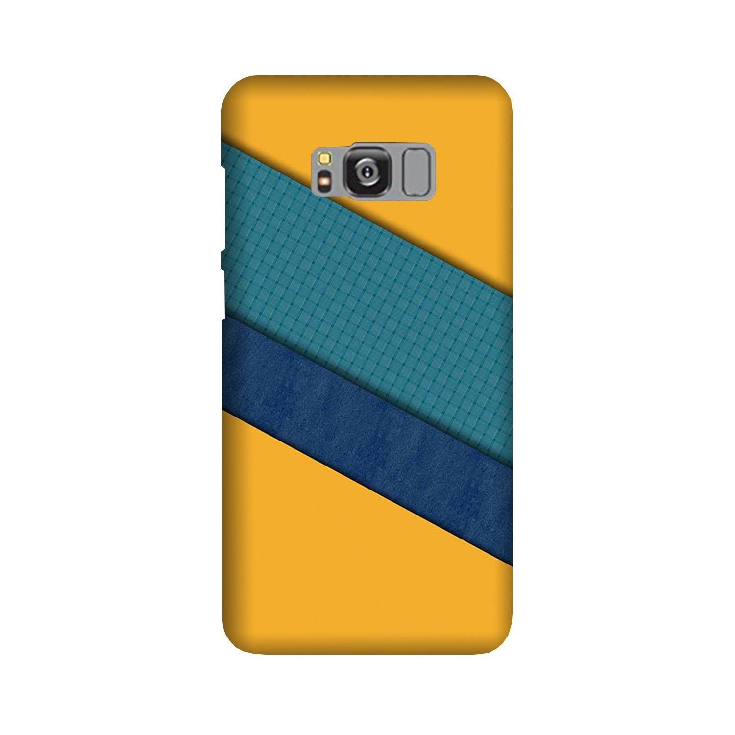Diagonal Pattern Mobile Back Case for Galaxy S8  (Design - 370)