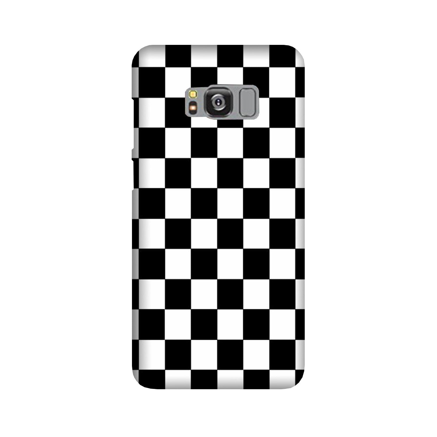 Black White Boxes Mobile Back Case for Galaxy S8  (Design - 372)