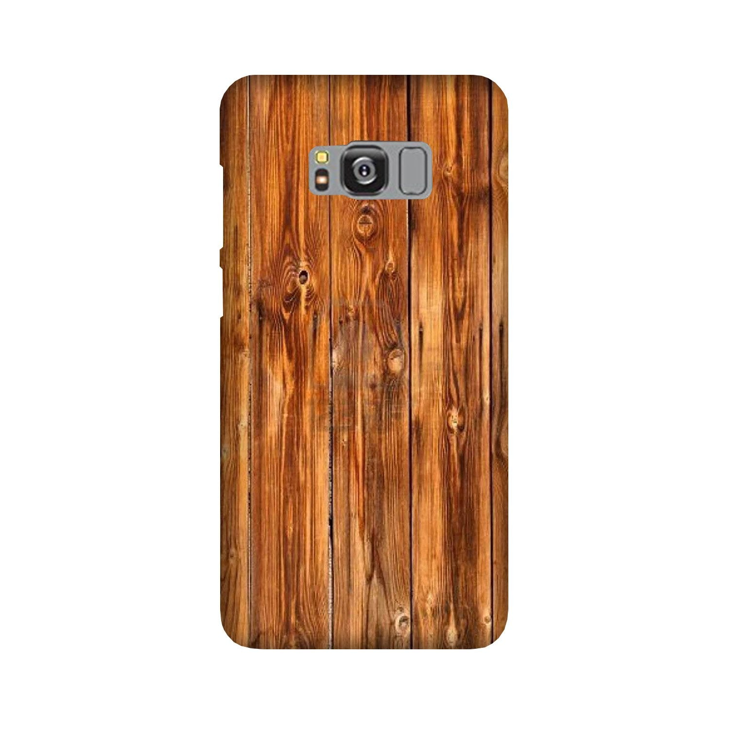Wooden Texture Mobile Back Case for Galaxy S8  (Design - 376)