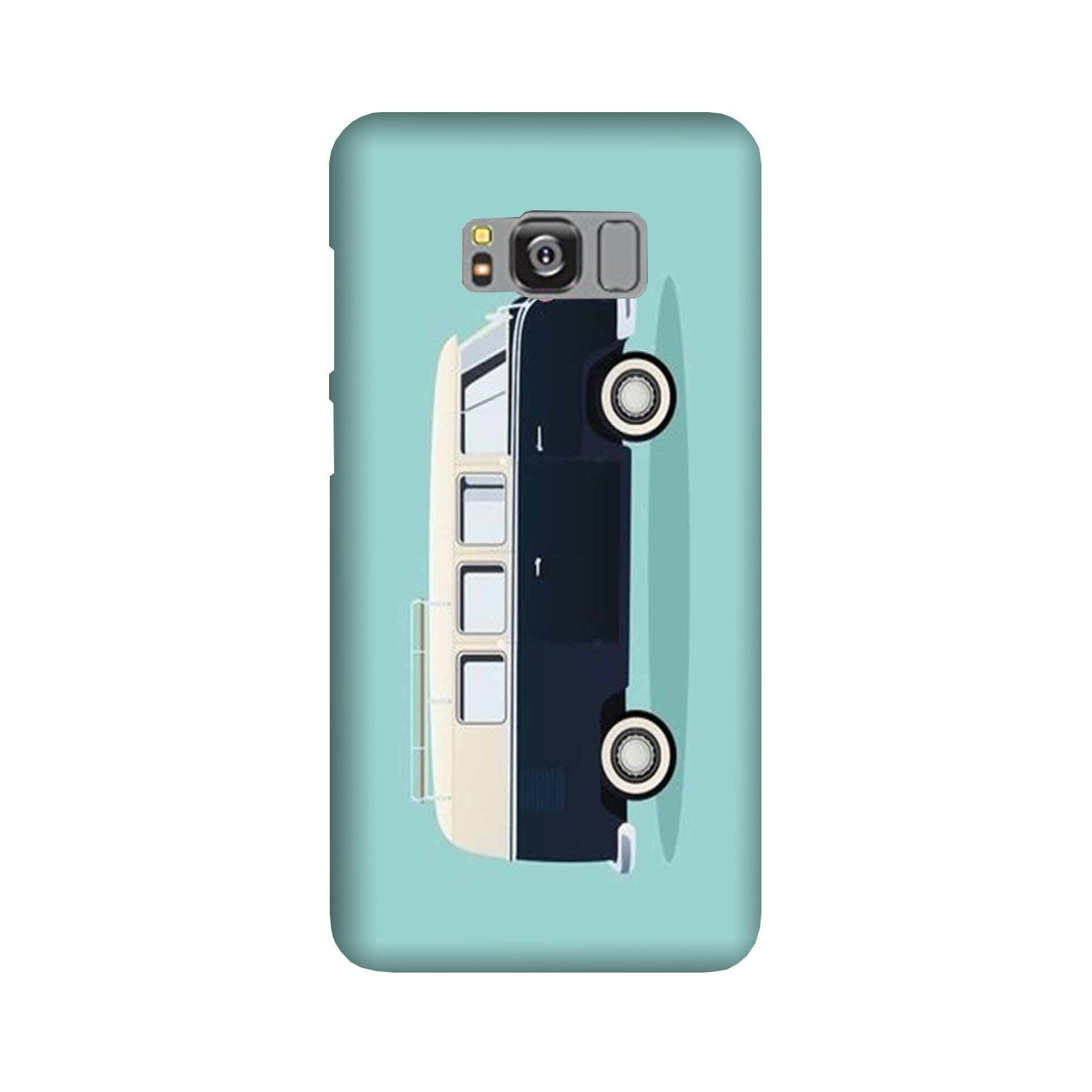 Travel Bus Mobile Back Case for Galaxy S8  (Design - 379)