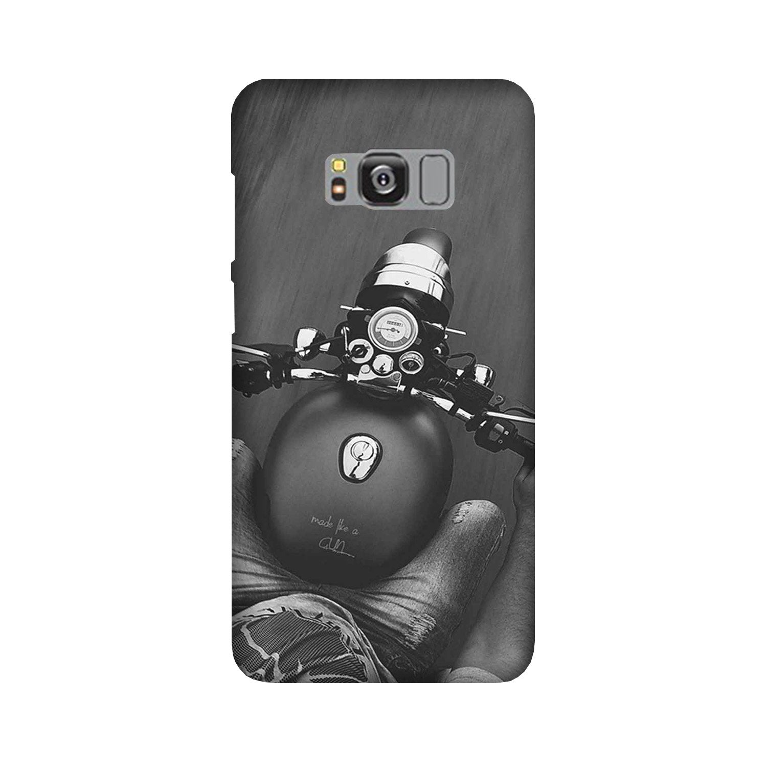 Royal Enfield Mobile Back Case for Galaxy S8 Plus  (Design - 382)