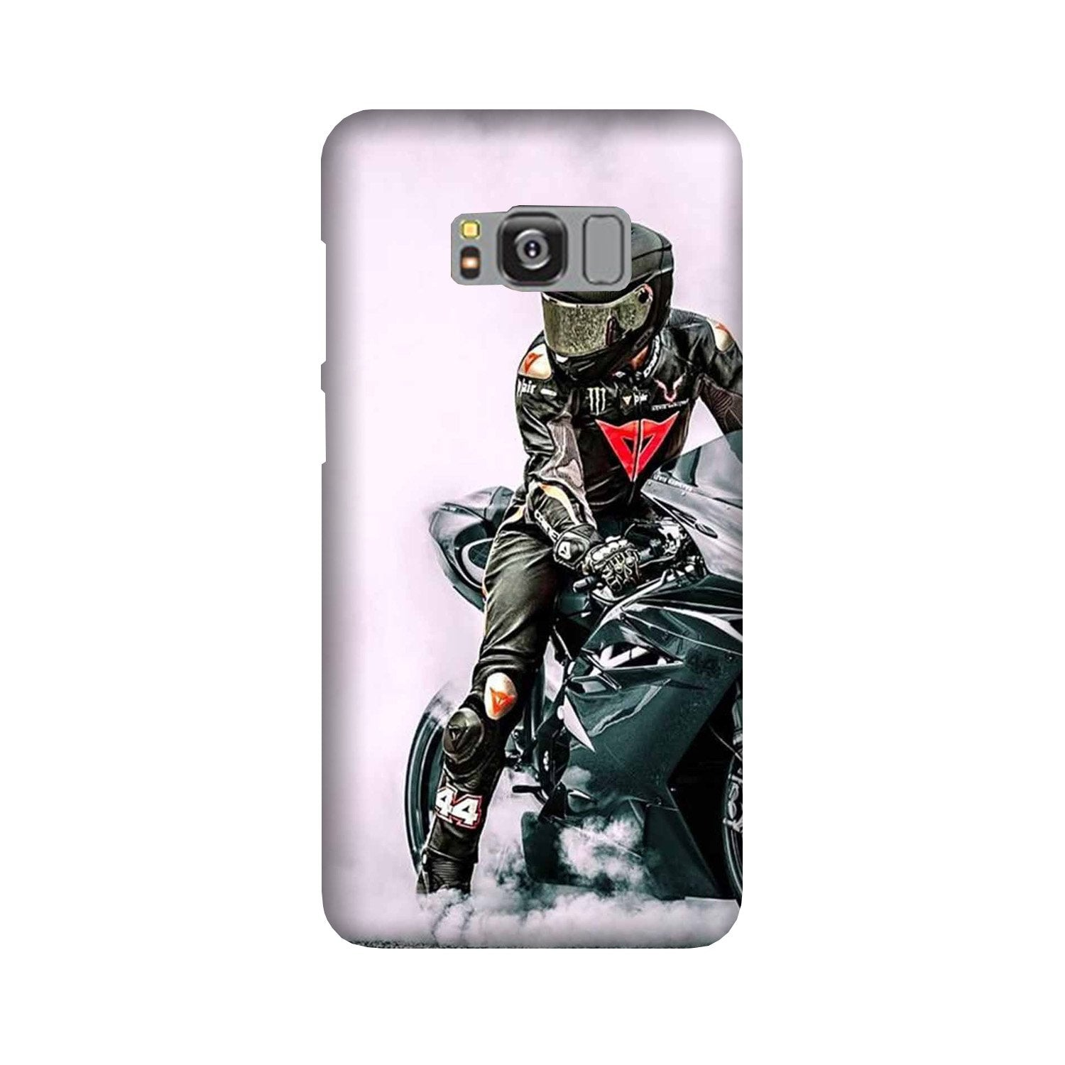 Biker Mobile Back Case for Galaxy S8  (Design - 383)