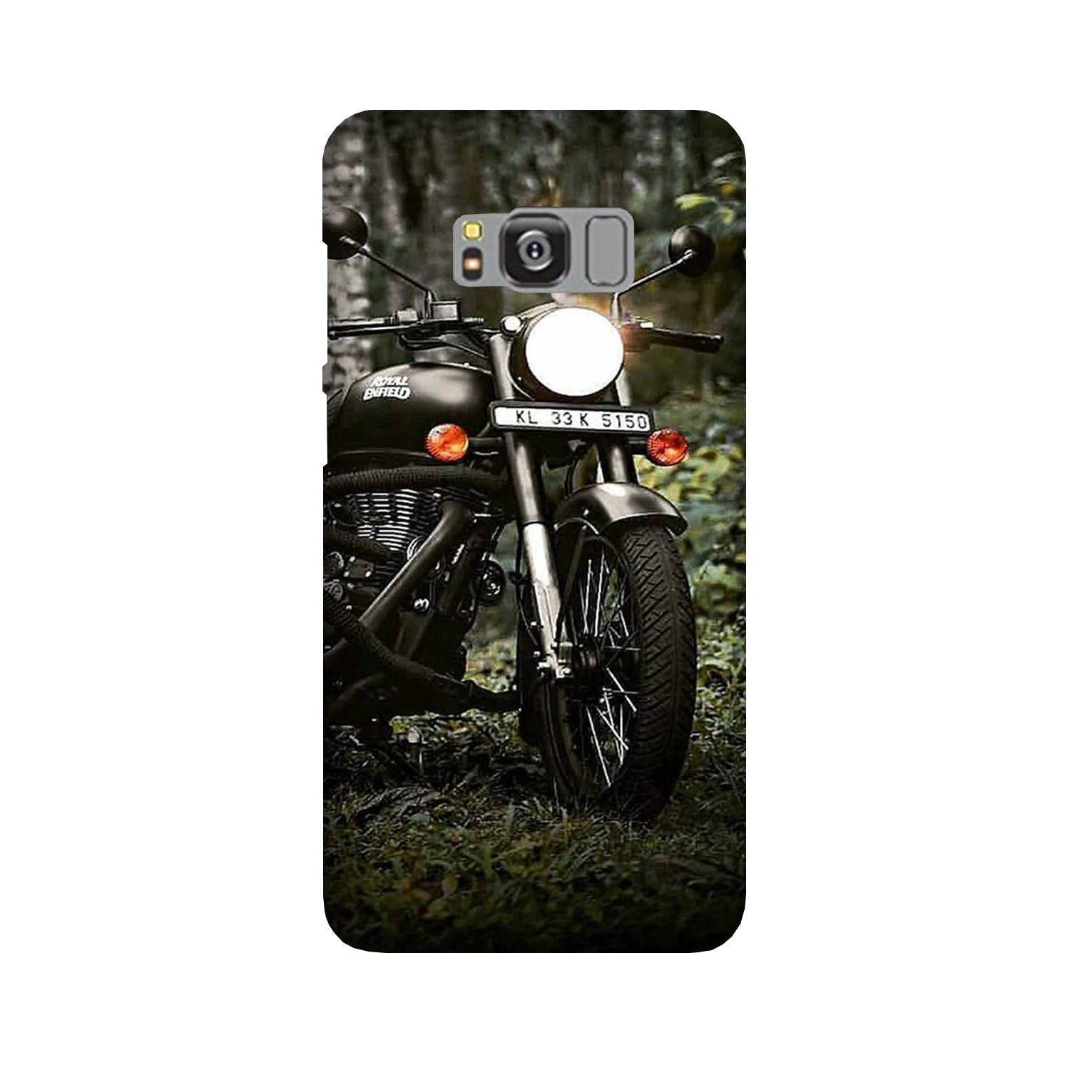 Royal Enfield Mobile Back Case for Galaxy S8 Plus  (Design - 384)