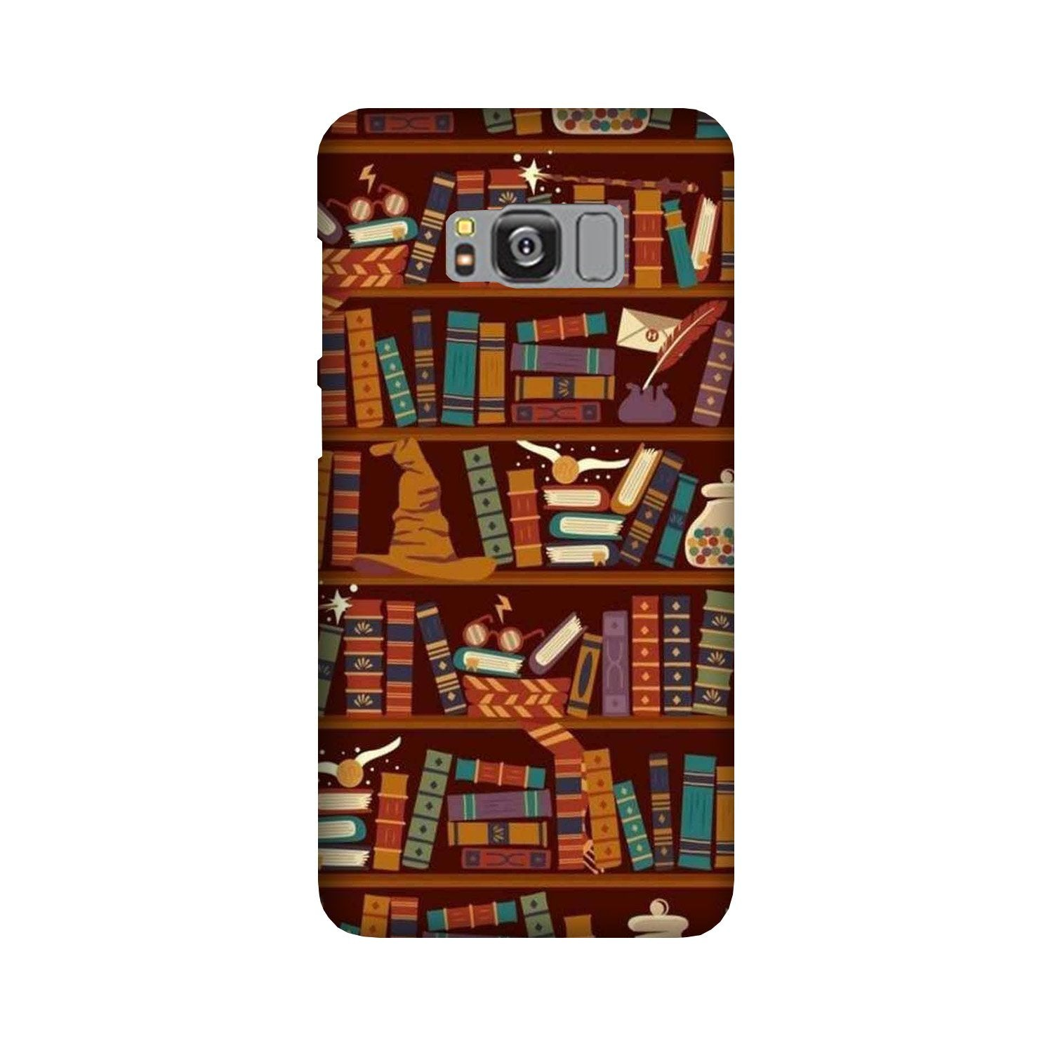 Book Shelf Mobile Back Case for Galaxy S8  (Design - 390)