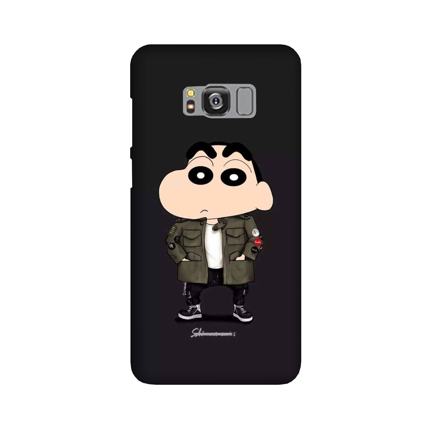 Shin Chan Mobile Back Case for Galaxy S8  (Design - 391)