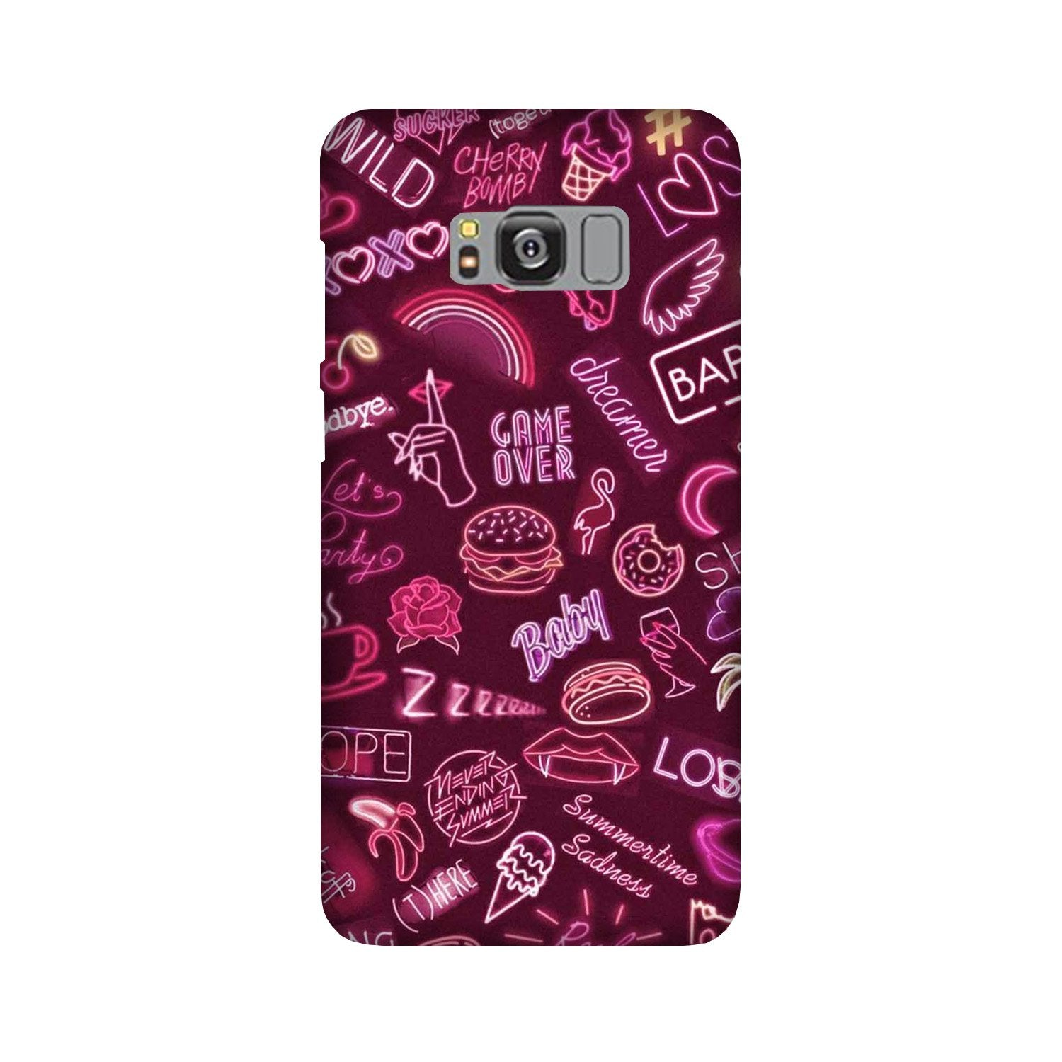 Party Theme Mobile Back Case for Galaxy S8 Plus  (Design - 392)