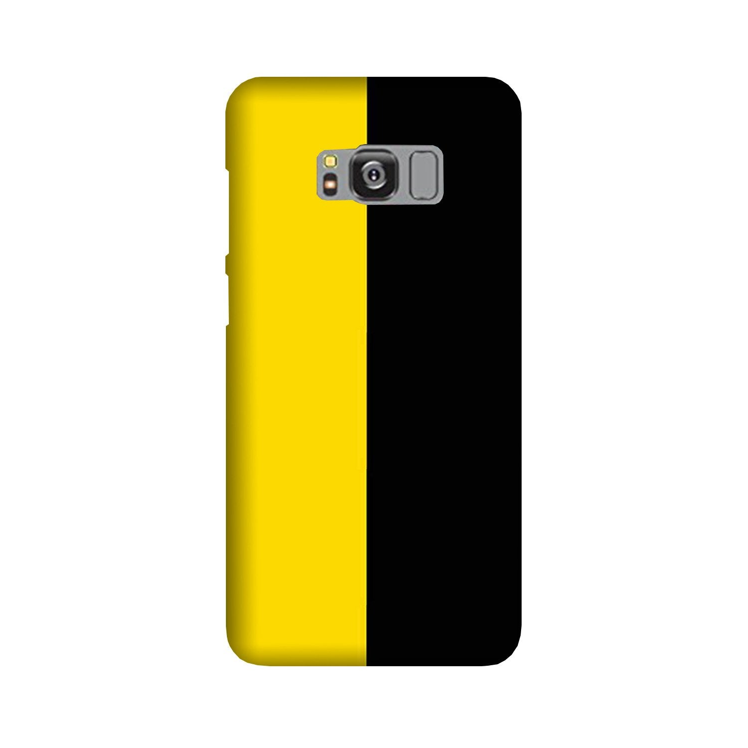 Black Yellow Pattern Mobile Back Case for Galaxy S8 Plus  (Design - 397)