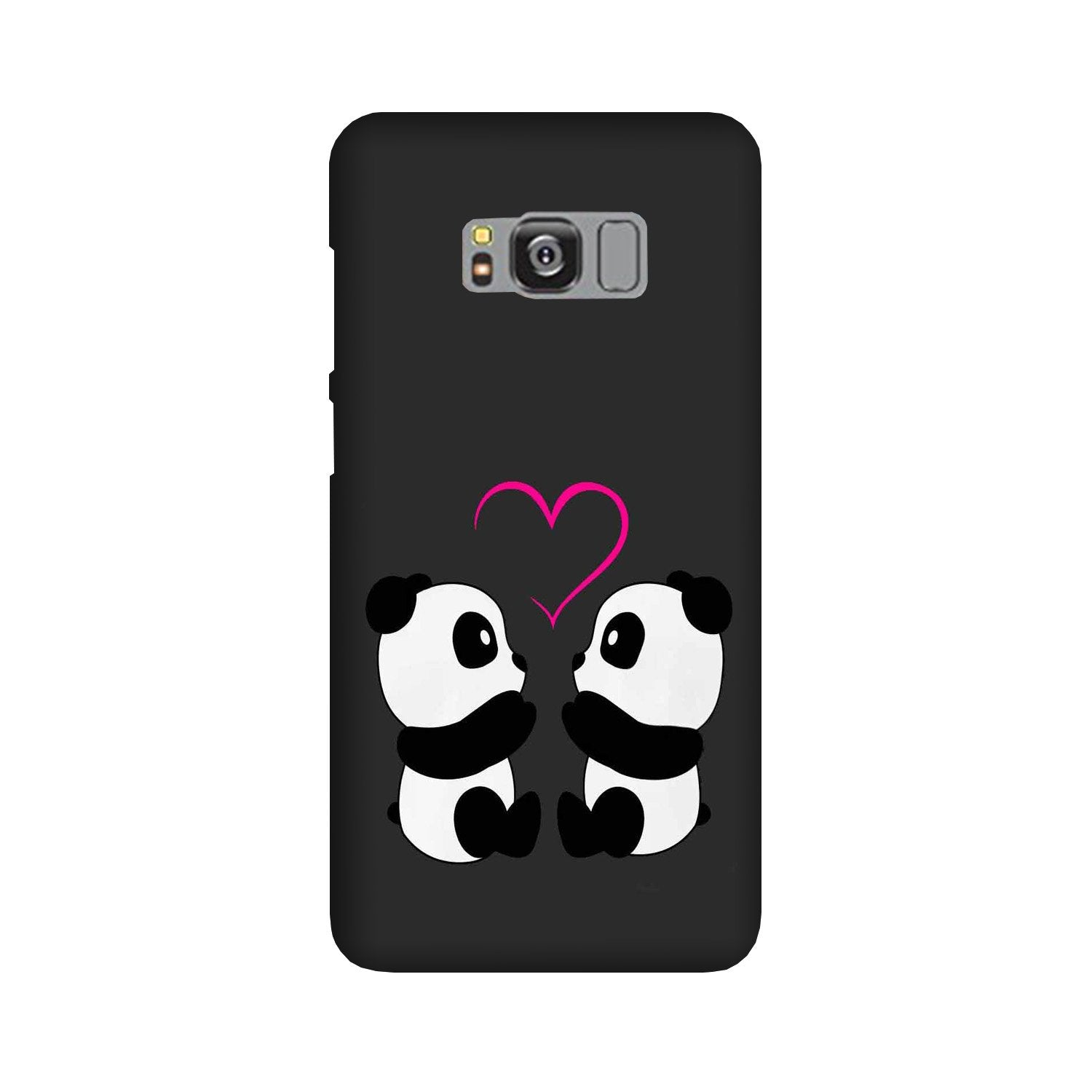 Panda Love Mobile Back Case for Galaxy S8  (Design - 398)