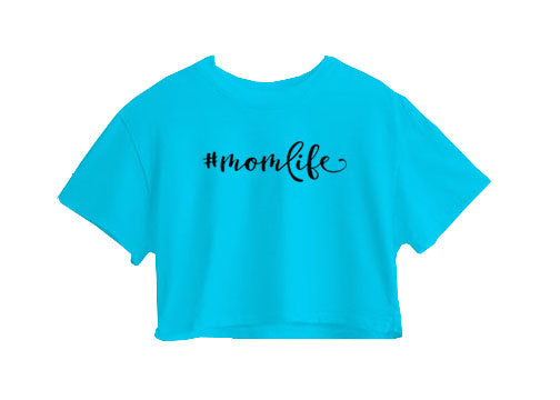 #Momlife Crop Top