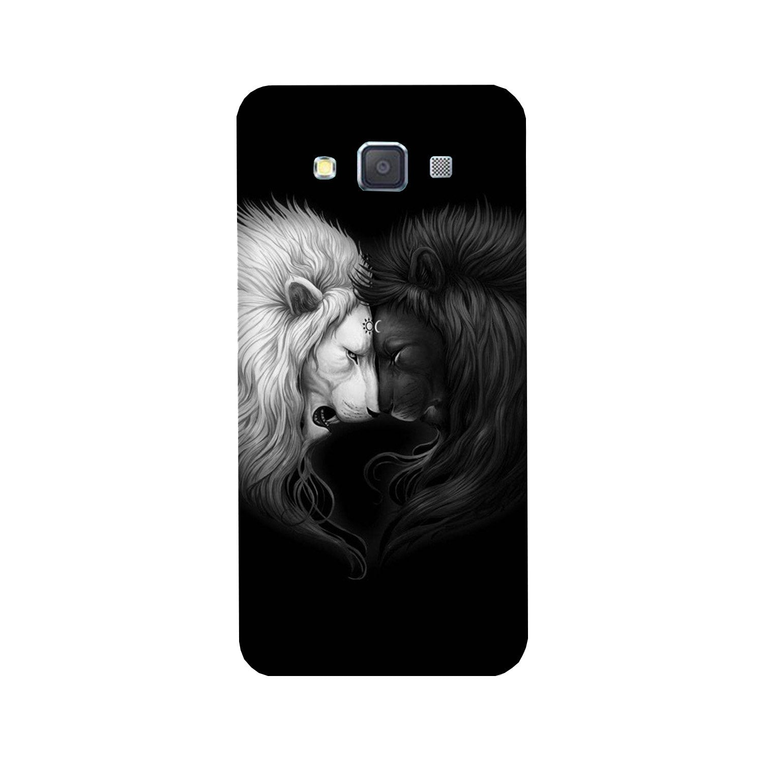 Dark White Lion Case for Galaxy A8 (2015)  (Design - 140)