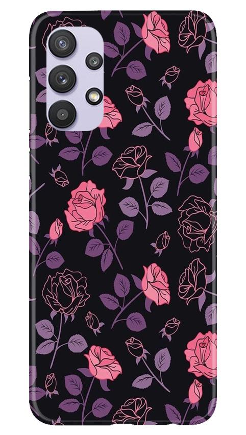 Rose Black Background Case for Samsung Galaxy A32