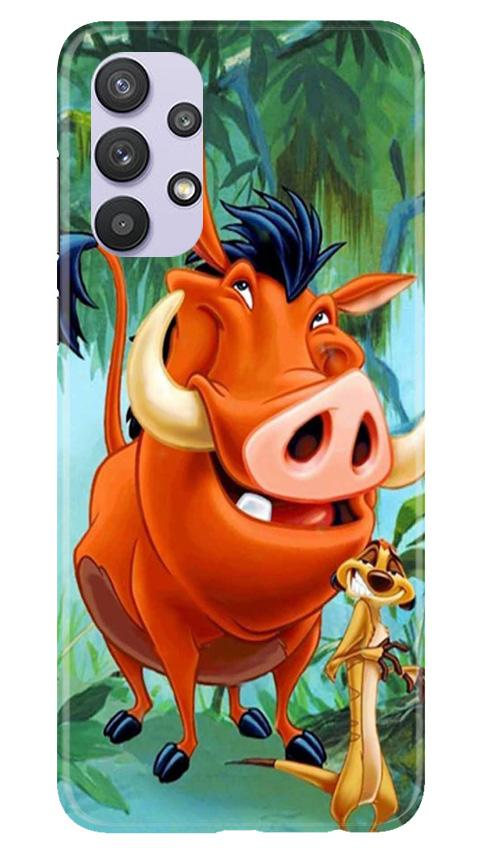 Timon and Pumbaa Mobile Back Case for Samsung Galaxy A32 (Design - 305)