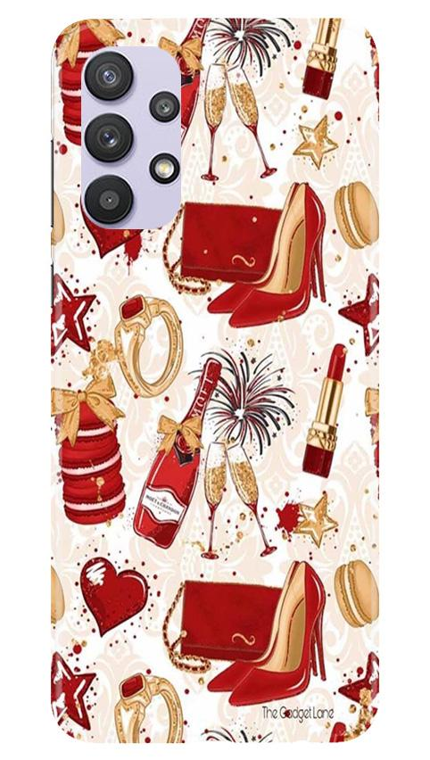 Girlish Mobile Back Case for Samsung Galaxy A32 (Design - 312)