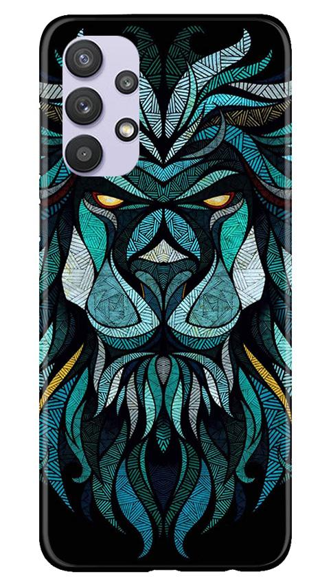Lion Mobile Back Case for Samsung Galaxy A32 (Design - 314)