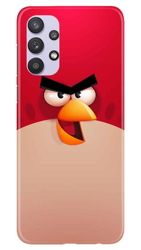 Angry Bird Red Mobile Back Case for Samsung Galaxy A32 (Design - 325)