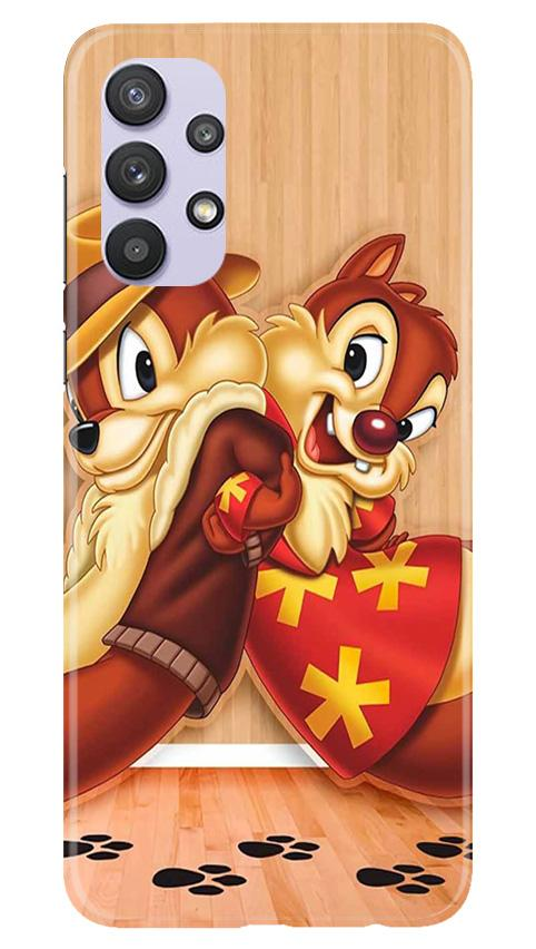 Chip n Dale Mobile Back Case for Samsung Galaxy A32 (Design - 335)