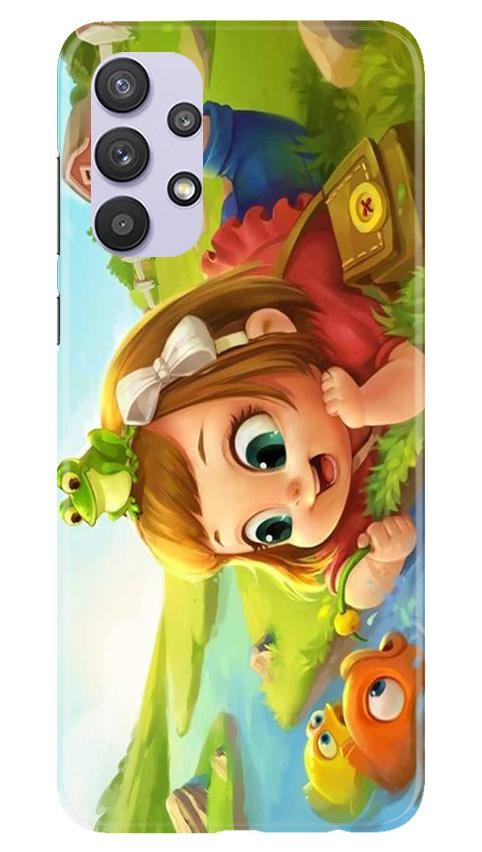 Baby Girl Mobile Back Case for Samsung Galaxy A32 (Design - 339)