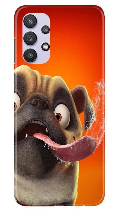 Dog Mobile Back Case for Samsung Galaxy A32 (Design - 343)