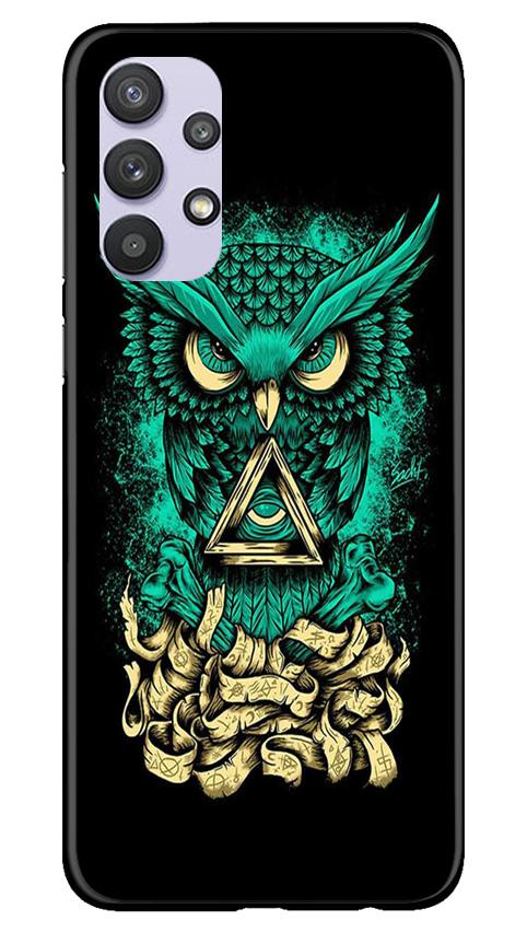 Owl Mobile Back Case for Samsung Galaxy A32 (Design - 358)