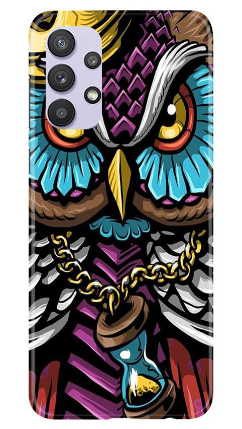 Owl Mobile Back Case for Samsung Galaxy A32 (Design - 359)